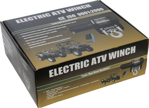 Winch - MNPS 3000lb, 12 Volt, Wireless Remote and Cabled Switch