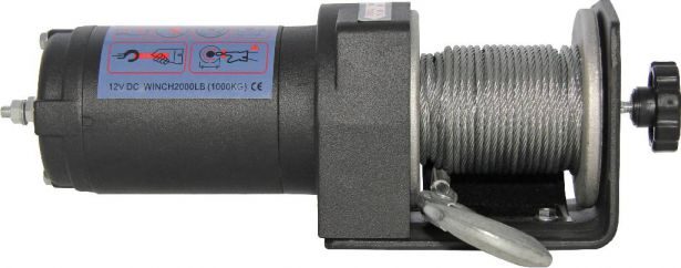 Winch - MNPS 2000lb, 12 Volt, Cabled Switch