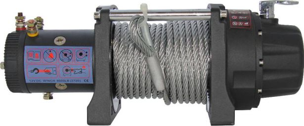 Winch - MNPS 6000lb, 12 Volt, Wireless Remote and Cabled Switch
