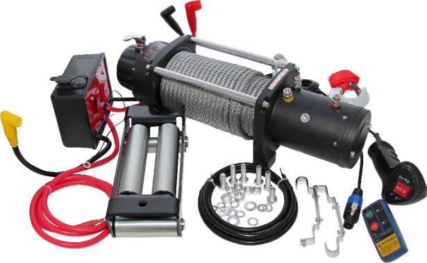 Winch - MNPS 9500lb, 12 Volt, Wireless Remote and Cabled Switch