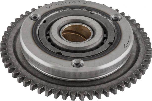 Starter Clutch - Overrunning Starter Bypass, CG250,  50cc to 250cc