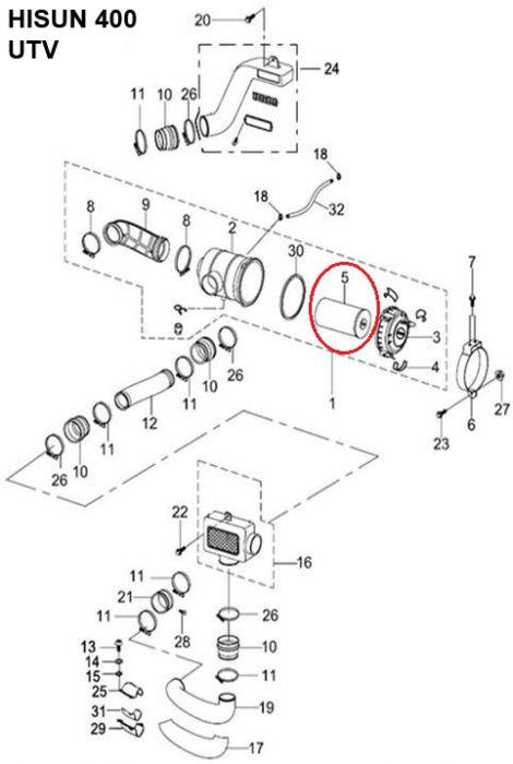 Air Filter - 400cc, 500cc, 700cc, 800cc Hisun