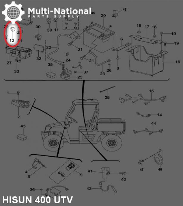 Relay Boot - 400cc  500cc  700cc  800cc Hisun - Multi-national Part Supply