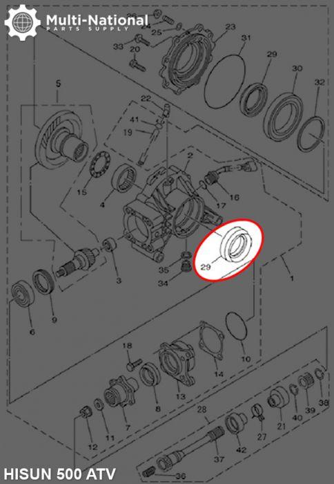 Oil Seal - 65mm/90mm/9mm, 400-800cc, Hisun