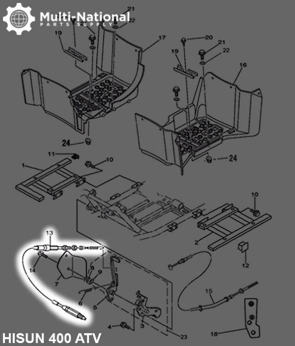 Reverse Cable Assembley -  87cm, 400cc, 500cc, 700cc, 800cc Hisun