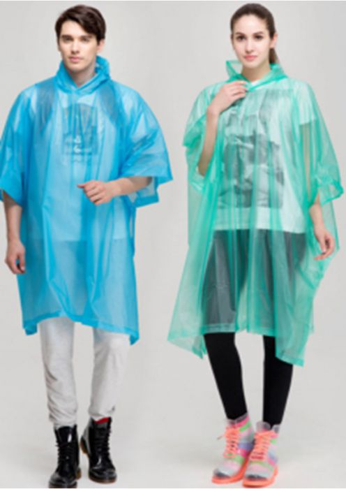 Raincoat - Poncho, PVC, Blue