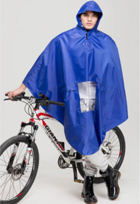 Raincoat - Poncho, Double, Blue