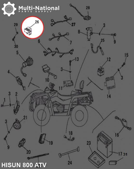 Fan Controller - ATV/UTV, Hisun, 800cc