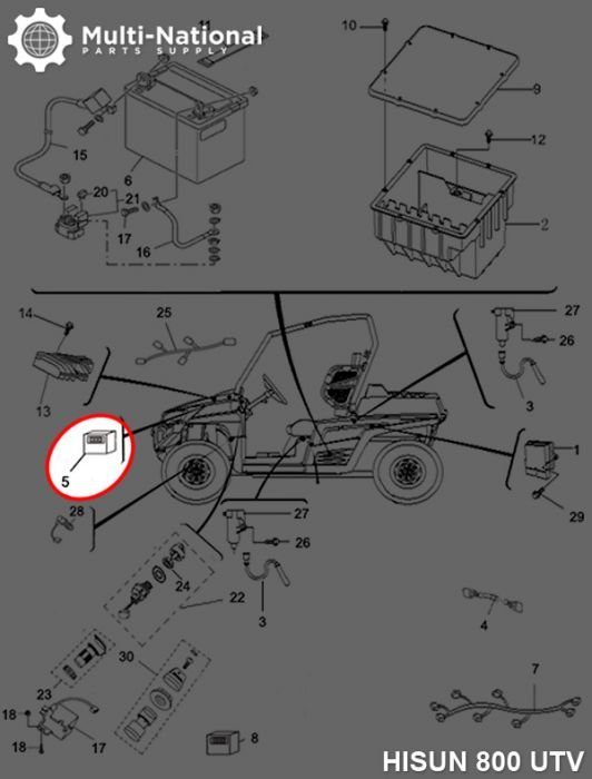 Fan Controller - Atv  Utv  Hisun  800cc