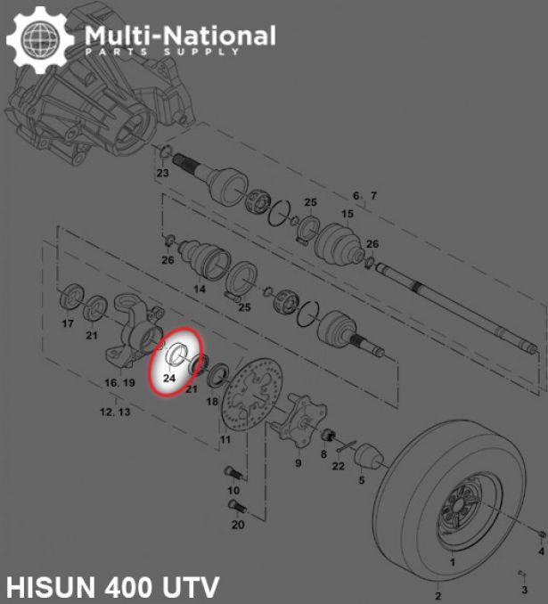 Bushing - 30x38x10.5, 400cc, 500cc, 700cc, 800cc Hisun
