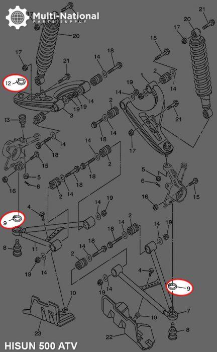 Snap Ring - Circlip, Hisun, ATV/UTV, 400-800cc