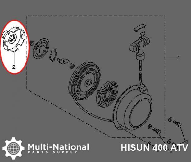 Starter Pawl - Starter Claw, Pullstart, Hisun, 400-700cc