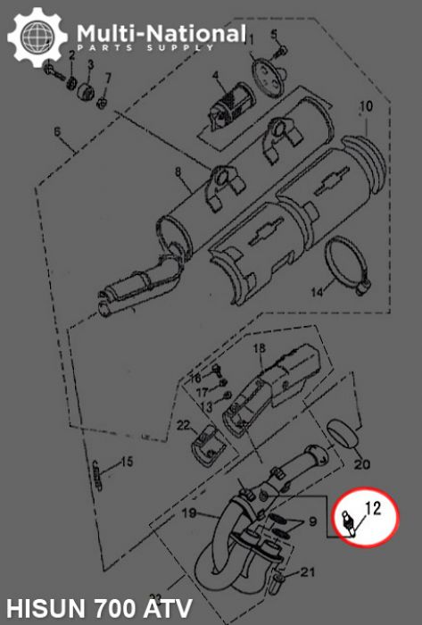 Oxygen Sensor - ATV, Hisun, 400-800cc