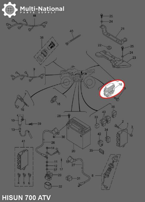 rectifier voltage regulator hisun 400 700cc atv utv. Black Bedroom Furniture Sets. Home Design Ideas