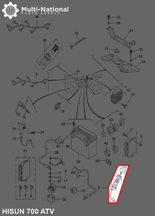 Ignition Key Switch Atv Hisun Cc on Dirt Bike Parts Outlets