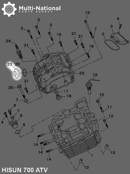 Engine Caps - ATV, Hisun, 700-800cc