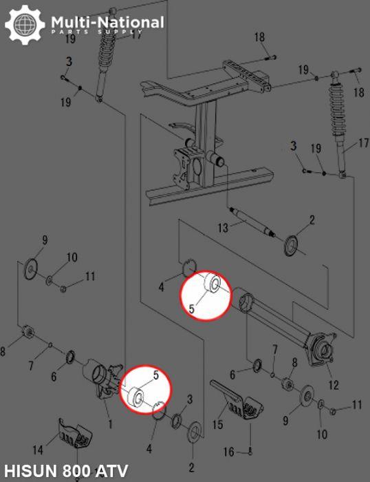 Bearing - DAC458445, 84x45x45, Hisun, 800cc, ATV (1pc)
