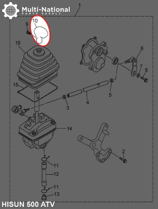 Shift Knob - ATV, Hisun, 500-700cc