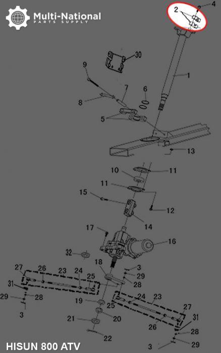 Handle Bar Clamp - ATV, Hisun, 400-800cc