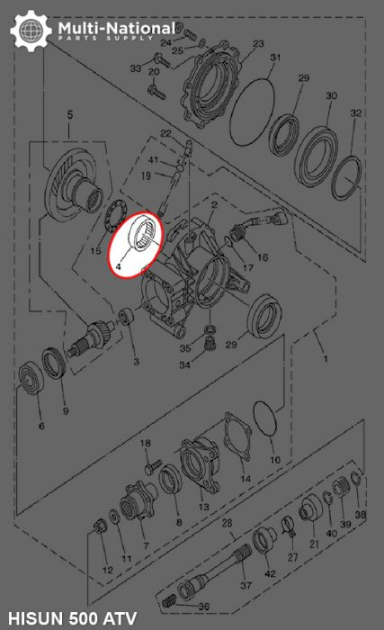 Bearing - 556720, 67x55x20, ATV, Hisun, 500-800cc, 1pc