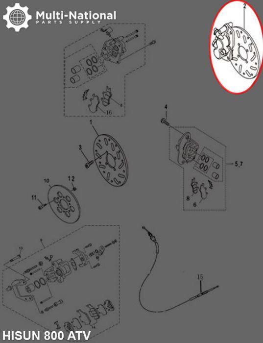 Brake Rotor - 4 Bolt 240mm 85mm Brake Disc, 800cc, Hisun, Left