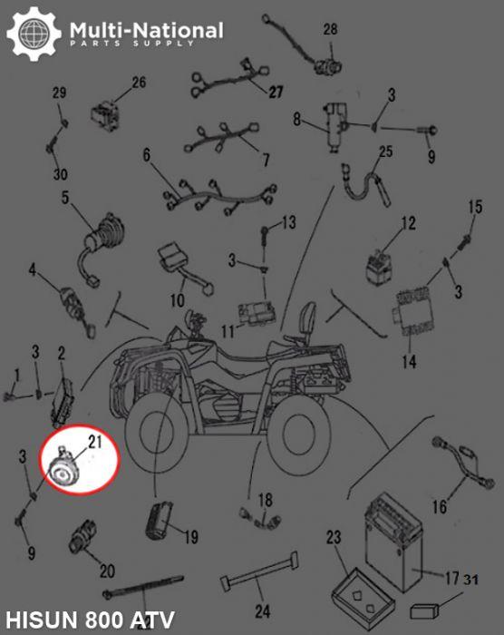 Horn - 800cc, ATV, Hisun