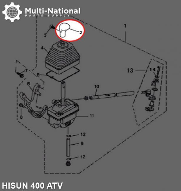 Shift Knob - 400cc, ATV, Hisun