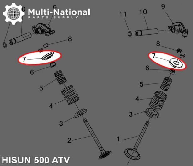 Valve Cotter Seat - ATV/UTV, Hisun, 400-500cc