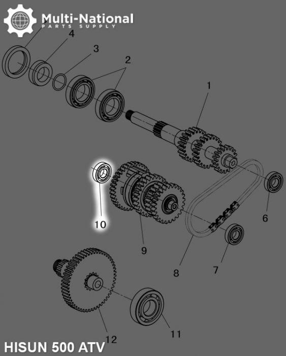 Bearing - 6203, 40x17x12, ATV, Hisun, 500-700cc  (1pc)