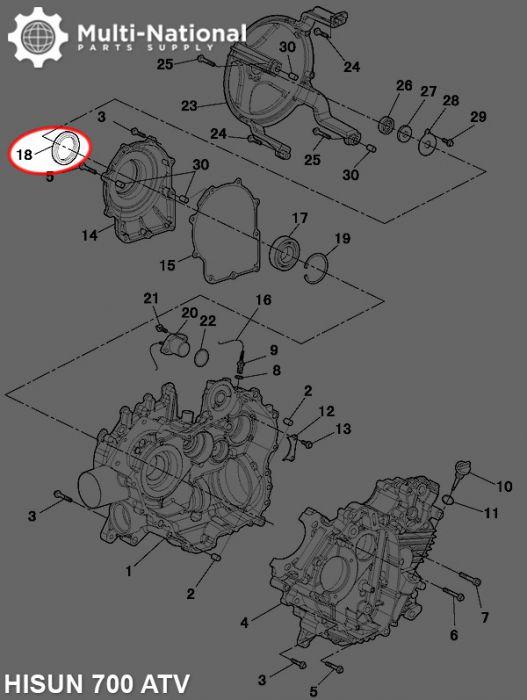 Oil Seal - 35mm ID, 65mm OD, 9mm Thick, ATV, Hisun, 500-700cc