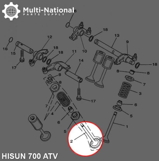 Exhaust Valve - ATV, Hisun, 700cc