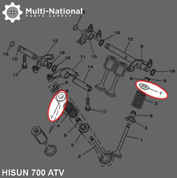 Valve Cotter Seat - ATV, Hisun, 700cc