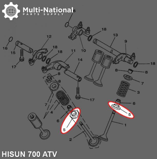 Valve Spring Plate - ATV, Hisun, 700cc
