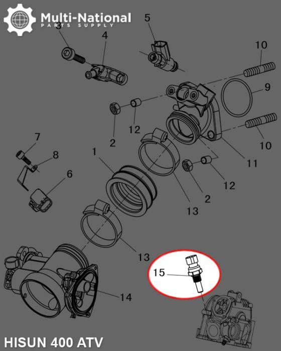 Water Temperature Sensor - Hisun, 400-800cc, ATV/UTV