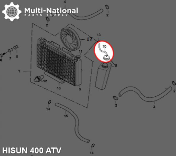 Rad Cap Vent Tube - ATV, Hisun, 400cc
