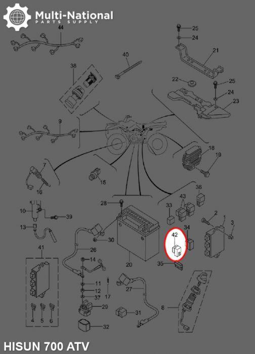 Breaker Assembly - Hisun, 400cc UTV, 500-700cc ATV