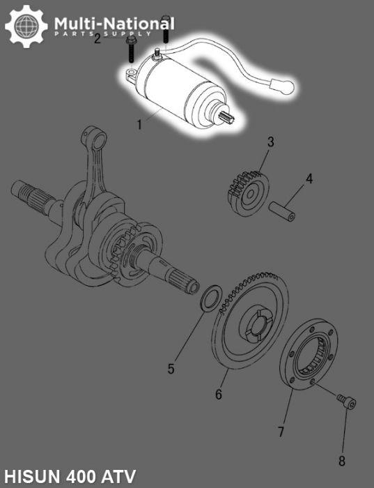 Starter - ATV/UTV, Hisun, 400-500cc