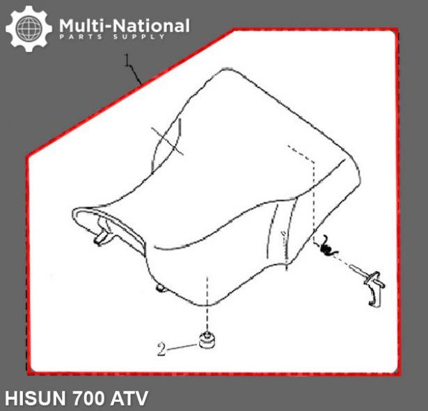 Seat - ATV, Hisun, 500-700cc