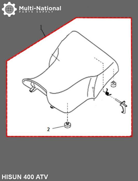 Seat - ATV, Hisun, 400cc