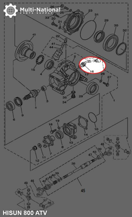 Speed Sensor - Hisun, 800cc, ATV/UTV