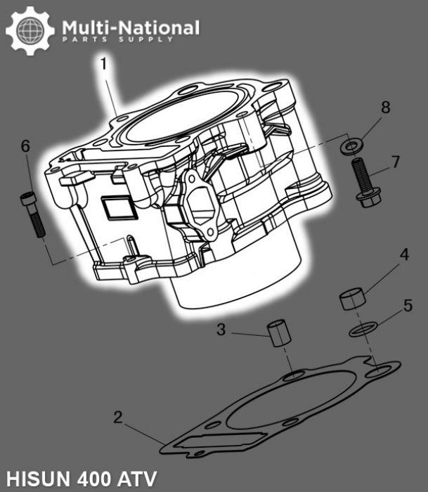 Cylinder Block - ATV/UTV, Hisun, 400cc