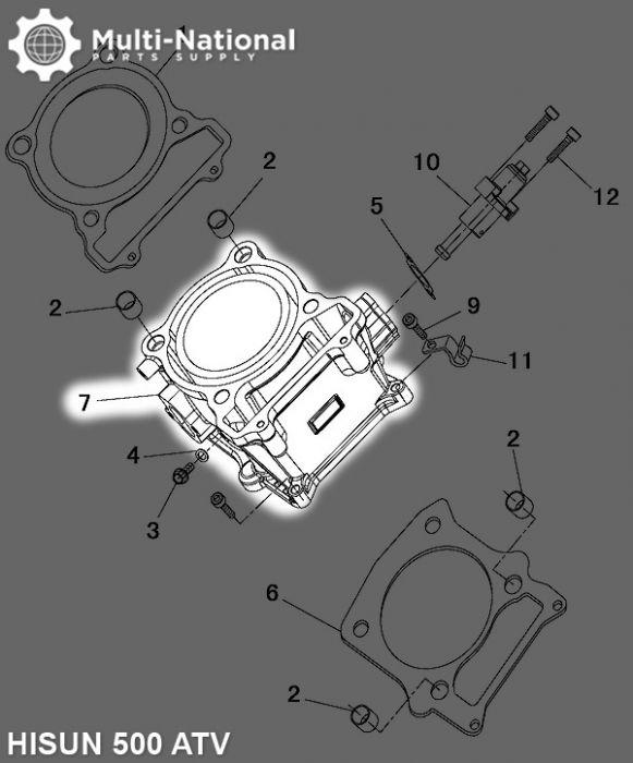 Cylinder Block - ATV, Hisun, 500cc
