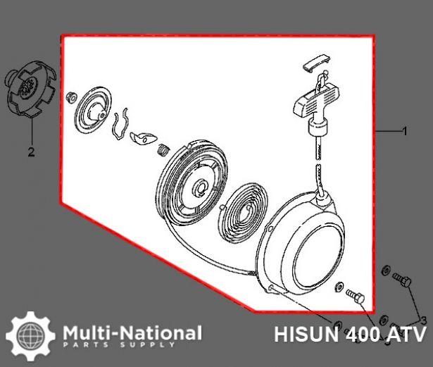 Pull Start - ATV, Hisun, 400-700cc