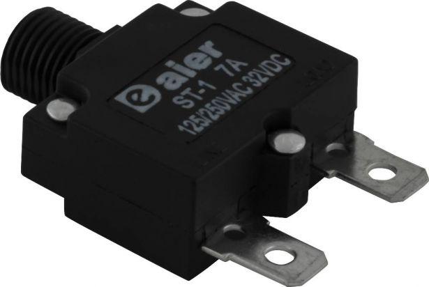Circuit Breaker - Push Button, 7A, ST-1, 125/250VAC, 32VDC