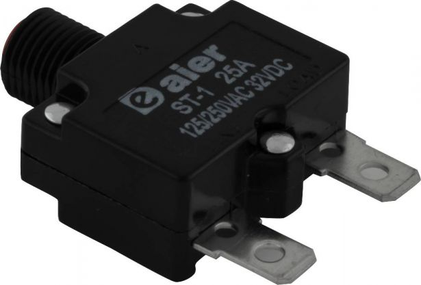 Circuit Breaker - Push Button, 25A, ST-1, 125/250VAC, 32VDC