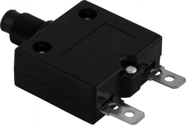 Circuit Breaker - Push Button, 8A, HT-01C, 125/250VAC, 32/50VDC