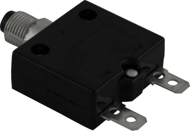 Circuit Breaker - Push Button, 25A, HT-01C, 125/250VAC, 32/50VDC