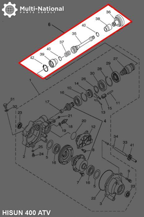 Transmission Shaft - 400cc, ATV, Hisun