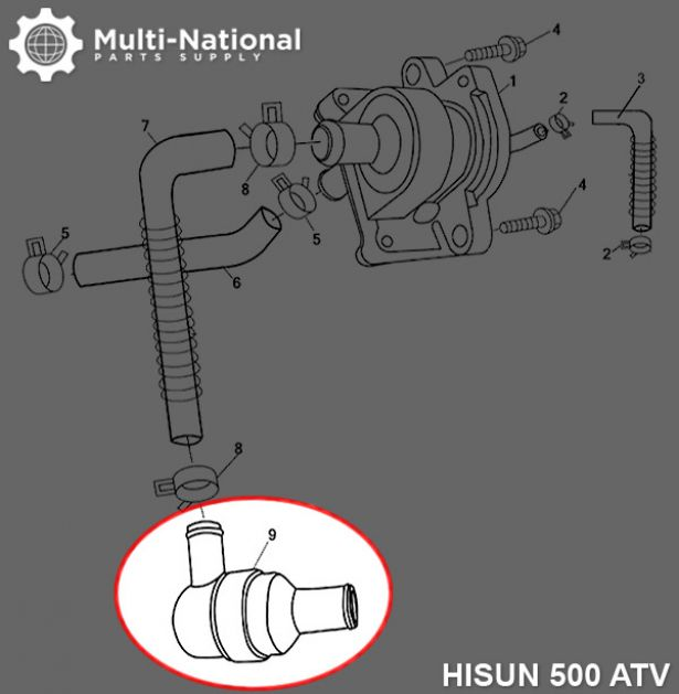 Air Filter Valve Assembly - ATV, Hisun, 500-700cc
