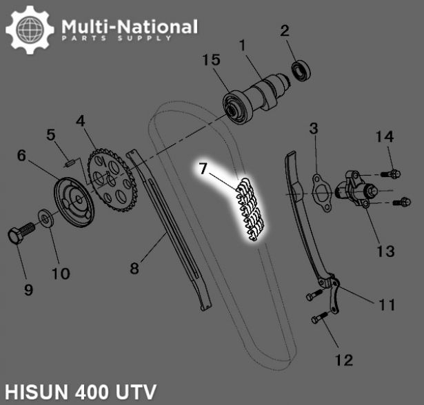 Timing Chain - M7-6.35-112, Hisun, 400-800cc, ATV/UTV